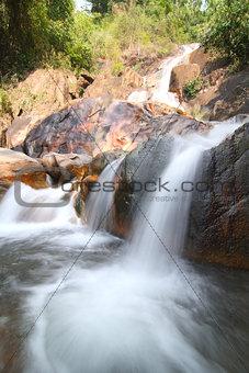 Kra-Ting waterfall located in Chantaburi, Thailand