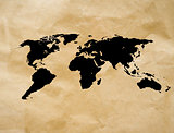 scratch vintage world map