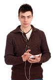 Young man with smartphone in hands