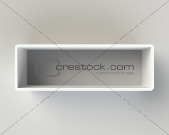 Modern White Book Shelf on the Wall