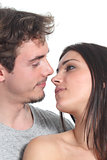 Couple in love ready to kiss 