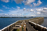 View to the pier in Veere, the Netherlands