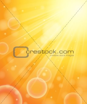 Abstract image with sunlight rays 1