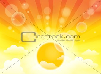 Abstract image with sunlight rays 4