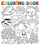 Coloring book coral reef theme 2