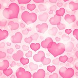 Seamless background with hearts 9