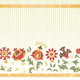 Floral background with retro flowers