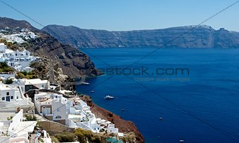 Steep coast of Santorini