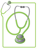 Stethoscope icon and border