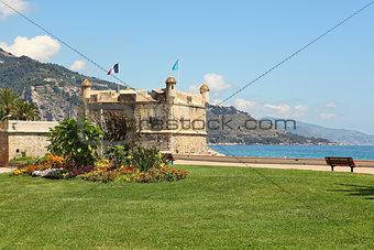 Old citadelle. Menton, France.