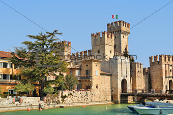 Medieval castle. Sirmione, Italy.
