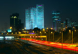 Night view of Tel Aviv, Israel.