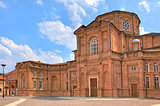 Brick church in Venaria Reale, Italy.