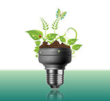 Light Bulb With Plants