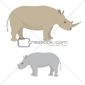 Big and little rhino