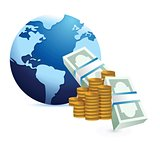 monetary international concept
