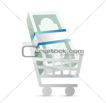 business shopping cart illustration