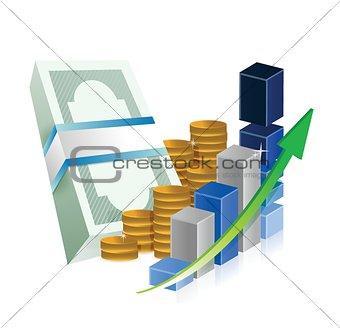 business successful graph profits