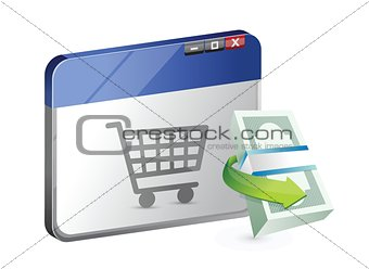 online business shopping concept