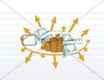 business profit diagram illustration