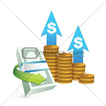 profits going up concept illustrations