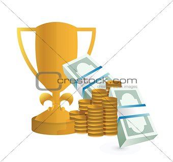 monetary award illustration design