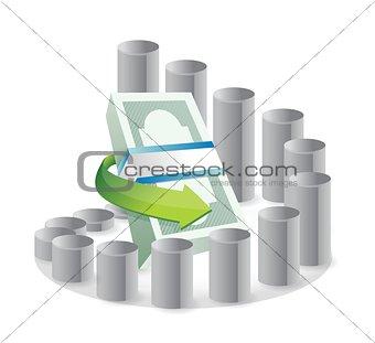 circular business graph illustration