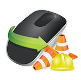 construction barrier and Wireless computer mouse