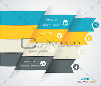 Modern spiral infographics options banner.