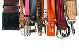 Various belts hanging