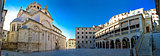 Sibenik UNESCO cathedral square panorama