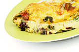 Omelet with Tomatoes and Greens