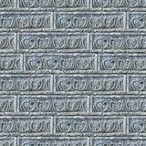 Seamless Texture of Gray Decorative Bricks Wall.
