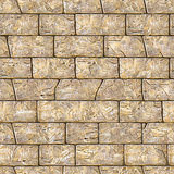 Seamless Texture of Brown Decorative Bricks Wall.
