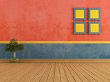 Colorful vintage room