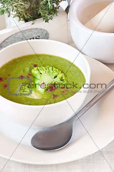 Broccoli soup.