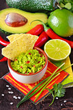 Guacamole dip.