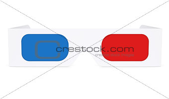 Paper anaglyph glasses