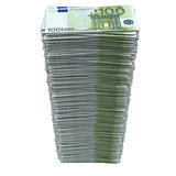 Stack of european currency