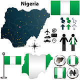 Nigeria map with regions