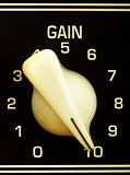 Amplifier Gain Knob