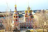 April view of Stroganov Church Nizhny Novgorod Russia