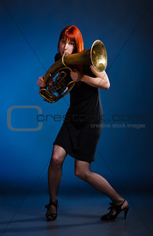 Woman With Trumpet