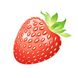 Realistic image of delicious ripe strawberries
