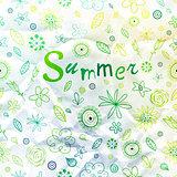 Summer vintage background