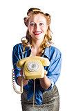 Retro receptionist