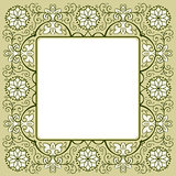 Vintage floral frame