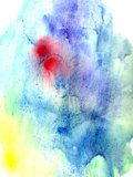 bright colorful abstract watercolor stain