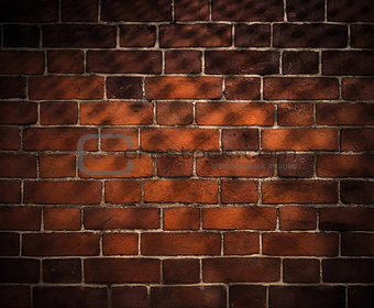 old brick wall background with grid shadow