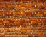 Sharp and colorful brick wall of 19th century